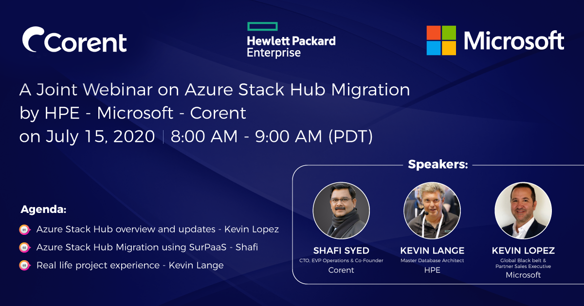 A Joint Webinar on Azure Stack Hub Migration by HPE - Microsoft - Corent